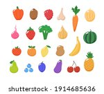 fruits and vegetables... | Shutterstock . vector #1914685636