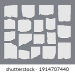 set of torn ripped paper sheets ... | Shutterstock .eps vector #1914707440