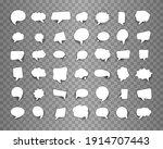 set of retro empty comics...   Shutterstock .eps vector #1914707443