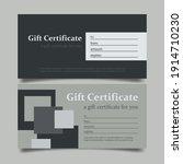 gift voucher mockup  vector...   Shutterstock .eps vector #1914710230