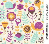 floral seamless pattern | Shutterstock .eps vector #191471600