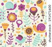 floral seamless pattern | Shutterstock .eps vector #191471600