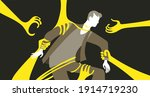 vector illustration. psychology ... | Shutterstock .eps vector #1914719230