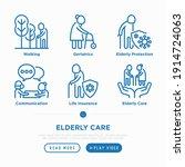 nursing home for elderly people ...   Shutterstock .eps vector #1914724063