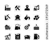 industrial web icon set black | Shutterstock .eps vector #191472569