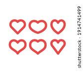 hearts vector icon collection....   Shutterstock .eps vector #1914741499
