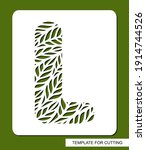 stencil with the letter l made... | Shutterstock .eps vector #1914744526