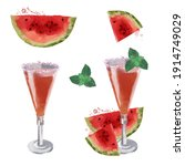 Watermelon Fizz Vector...