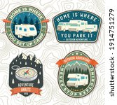 set of summer camp patches.... | Shutterstock .eps vector #1914751279