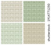 set of square seamless patterns ... | Shutterstock .eps vector #1914771250