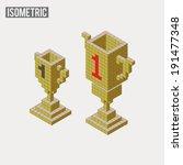 isometric trophy in two... | Shutterstock .eps vector #191477348