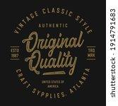 vintage  design for t shirt...   Shutterstock .eps vector #1914791683