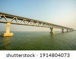 Small photo of Bangladesh – February 06, 2021: A new PADMA Multipurpose Bridge is being constructed over the river Padma at Munshiganj, Dhaka, Bangladesh.