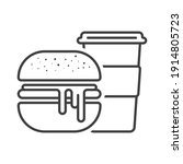 icon burger with a mug of...   Shutterstock .eps vector #1914805723