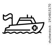 ocean rescue boat icon. outline ...   Shutterstock .eps vector #1914815170