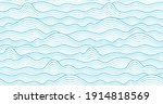 seamless abstract sea wave... | Shutterstock .eps vector #1914818569
