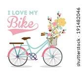bike design over white... | Shutterstock .eps vector #191482046
