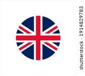 uk flag icon flat design | Shutterstock .eps vector #1914829783