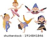 Vector Art Of Dancers  Native ...