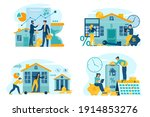 mortgage payment online ... | Shutterstock .eps vector #1914853276