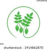 chickpeas logo. isolated... | Shutterstock .eps vector #1914862870