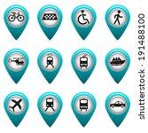 set of round 3d transport...   Shutterstock .eps vector #191488100