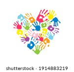 heart is made of different... | Shutterstock .eps vector #1914883219