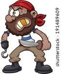 Cartoon Pirate. Vector Clip Ar...