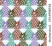 seamless pattern with pineapple ... | Shutterstock .eps vector #1914908536