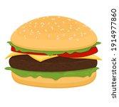 vector drawing of hamburger... | Shutterstock .eps vector #1914977860