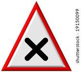 warning sign | Shutterstock . vector #19150099