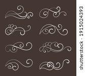 decorative swirl floral... | Shutterstock .eps vector #1915024393