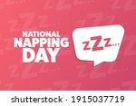national napping day. holiday... | Shutterstock .eps vector #1915037719