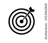 target bullseye arrow icon flat.... | Shutterstock .eps vector #1915062820