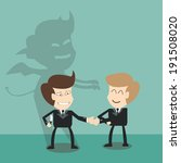 devil shadow behind  business... | Shutterstock .eps vector #191508020