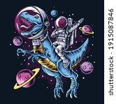 The Astronaut Drives The T Rex...