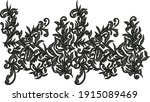 embroidery motif textile print...   Shutterstock . vector #1915089469
