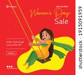 women's day special offer sale... | Shutterstock .eps vector #1915091959