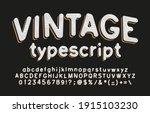 vintage alphabet font. hand... | Shutterstock .eps vector #1915103230