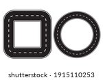 square road. circle road. path...   Shutterstock .eps vector #1915110253
