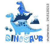 cute dinosaur. hand drawing...   Shutterstock .eps vector #1915120213