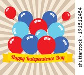 happy independence day | Shutterstock .eps vector #191512454