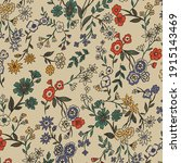 beautiful vintage floral...   Shutterstock .eps vector #1915143469