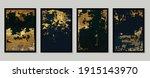 luxury gold wallpaper.  black... | Shutterstock .eps vector #1915143970