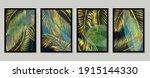 botanical wall art vector set.... | Shutterstock .eps vector #1915144330