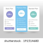 pricing tables   Shutterstock .eps vector #191514680