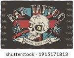 vintage label font named urban... | Shutterstock .eps vector #1915171813