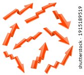 financial indication arrows set....   Shutterstock . vector #1915189519