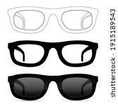 glasses. set. illustration... | Shutterstock . vector #1915189543