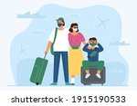 the concept of travel during... | Shutterstock .eps vector #1915190533
